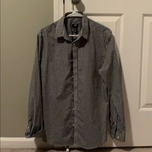 H & M Checkered Button Down Shirt
